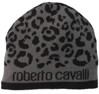 Roberto Cavalli Printed Wool Blend Beanie