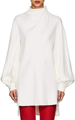 Giorgio Armani Women's Silk Mock-Turtleneck Tunic Blouse