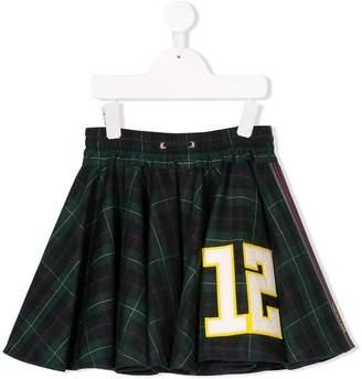 Mi Mi Sol patch detail tartan skirt