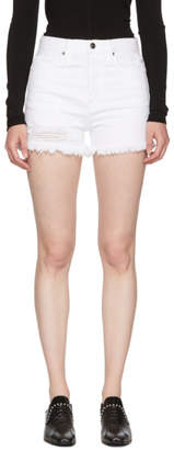 Frame White Rigid Re-Release Le Original Denim Shorts