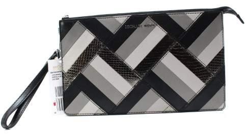 Michael Kors MICHAEL Marquetry Patchwork Daniela Large Wristlet Handbag - BLACK - STYLE