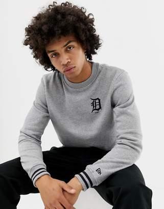 New Era MLB Detroit Tigers Sweatshirt With Small Logo In Gray