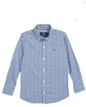 Vineyard Vines Gingham Whale Button Down Shirt