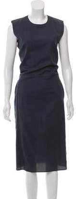 MM6 MAISON MARGIELA Silk Midi Dress Blue Silk Midi Dress