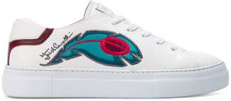 Just Cavalli peacock embroidered low-top sneakers