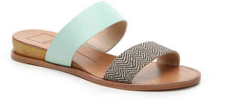 Women's Pris Wedge Sandal -Black Embossed $100 thestylecure.com