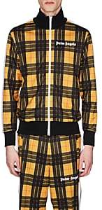 Palm Angels Men's Plaid Jersey Track Jacket - Yellow