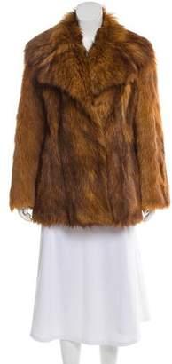 Geoffrey Beene Goat Fur Coat