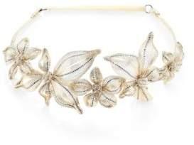 Colette MaloufColette Malouf Mesh & Swarovski Crystal Botanical Headband