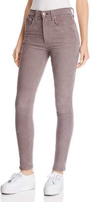 Rag & Bone High-Rise Skinny Corduroy Jeans in Nickel