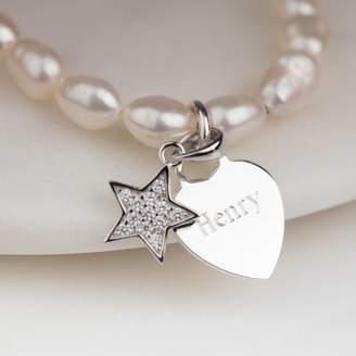 87f7c2b6bb4 Nest Personalised Children s Pearl Star Charm Bracelet