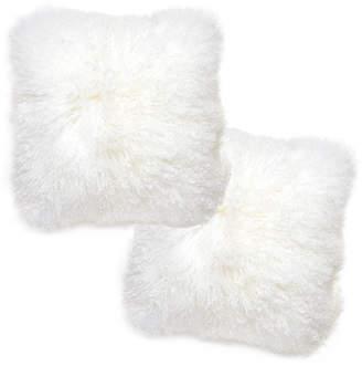Jonathan Adler White Mongolian Pillow Set