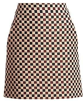 Akris Punto Women's Chess Check Mini Skirt