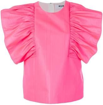 MSGM ruffled sleeve blouse