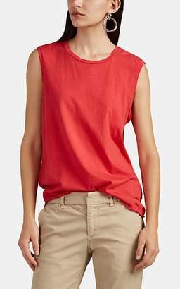 "Nili Lotan Women's ""Muscle Tee"" Cotton Tank - Red"