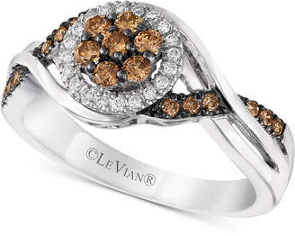 LeVian Le Vian Chocolatier® Diamond Halo Ring (3/8 ct. t.w.) in 14k White Gold