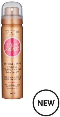 L'Oreal Paris Sublime Bronze Self Tan Express Mist Spray Face 75ml