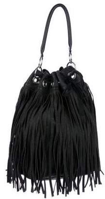 Marni Leather Fringe Bucket Bag