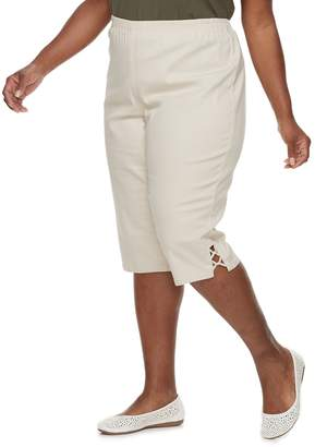 Croft & Barrow Plus Size Vented Pull-On Capris