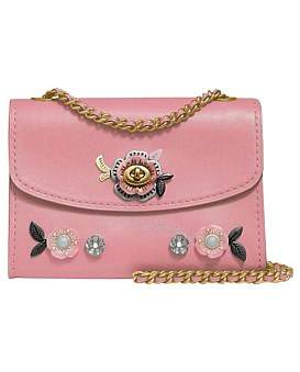 Coach Parker 18 With Allover Tea Rose Stones