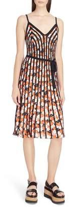 Kenzo Print Rib Knit Fit & Flare Dress