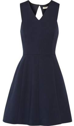Halston Cutout Pleated Ponte Mini Dress