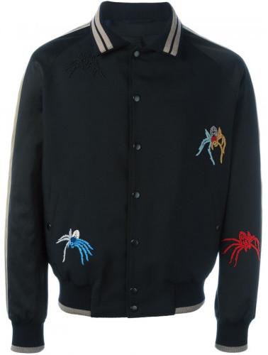 Lanvin spider embroidery baseball jacket