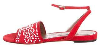 Tabitha Simmons Embelishhed Ankle Strap Sandals