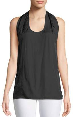 Helmut Lang Scoop-Neck Halter Knot Tank Top