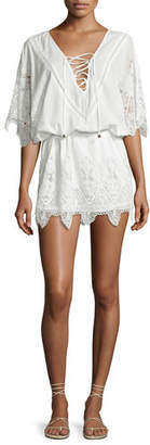 Suboo Prairie Broderie Anglaise Lace Caftan Coverup, White $260 thestylecure.com