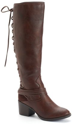 Candie's® Women's Laced-Back Riding Boots $79.99 thestylecure.com