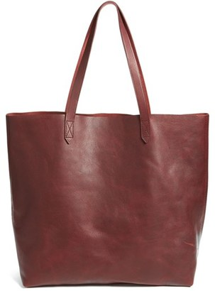 Madewell 'The Transport' Leather Tote - Red $168 thestylecure.com