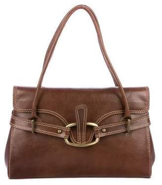 Stuart Weitzman Leather Flap Handle Bag