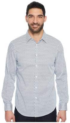 Perry Ellis Long Sleeve Slashed Argyle Shirt Men's Long Sleeve Button Up