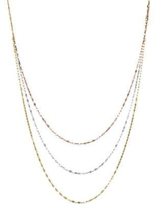 """Bloomingdale's 14K Yellow, White, and Rose Gold Three Strand Flat Link Chain Necklace, 28"""" - 100% Exclusive"""
