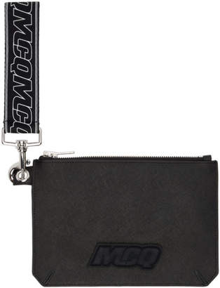McQ Black Hyper Passport Pouch
