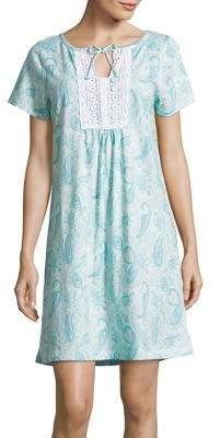 Carole Hochman Short Paisley Nightgown