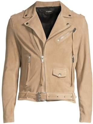 The Kooples Suede Asymmetric Moto Jacket