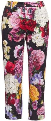 Dolce & Gabbana Brocade Floral Cropped Pants
