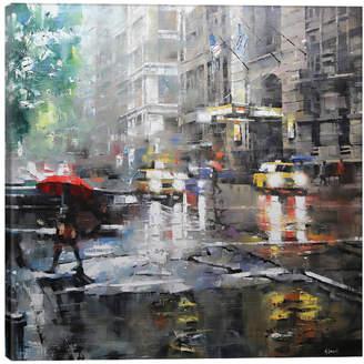 icanvasart Manhattan Red Umbrella By Mark Lague