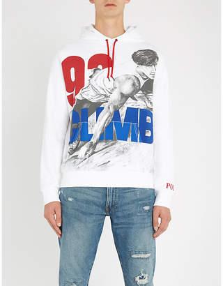 Polo Ralph Lauren Printed cotton-jersey hoody