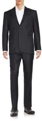 Hugo Boss The Grand/Central Regular-Fit Stripe Virgin Wool Suit