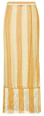 Missoni Mare Crochet-knit striped wrap skirt