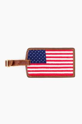 Smathers and Branson American Flag Needlepoint Luggage Tag