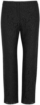 Max Mara Scenico Black Cropped Lace Trousers