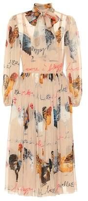 Dolce & Gabbana Printed silk chiffon dress