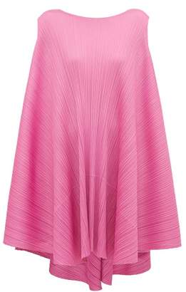 Pleats Please Issey Miyake Petal Tie Back Pleated Dress - Womens - Pink