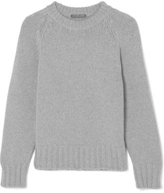 Alexander McQueen Chunky-knit Cashmere And Wool-blend Sweater - Gray