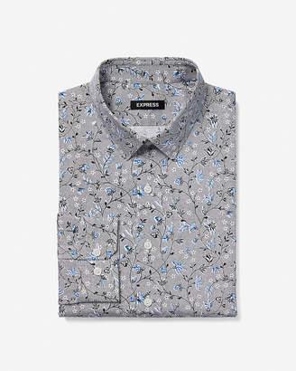 Express Extra Slim Floral Vine Dress Shirt