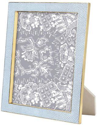 "AERIN Shagreen Brass Frame - Blue - 8x10"""